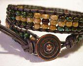 Leather Wrap, Bohemian Wrap Bracelet, Beaded Bracelet, Double Wrap Bracelet, Czech Glass  https://www.etsy.com/listing/228995812/leather-wrap-bohemian-wrap-bracelet?ref=shop_home_active_1