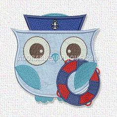 Blue Owl Sailor - Adorable Applique
