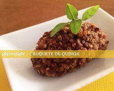 FarofaFit: Croquete de quinoa | CAROL BUFFARA