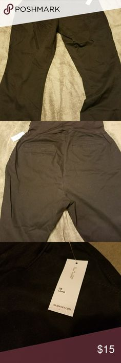 New Old Navy maternity pants Black, size 18 long Old Navy Pants Straight Leg
