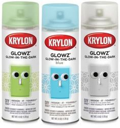 Rust oleum s glow in the dark spray paint can be sprayed for Spray paint rocks for garden