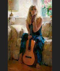 Muchacha con guitarra - Garmash