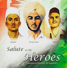 Remembering The Great ßhagat singh Sukhdev Rajguru*Salute to the Hero's
