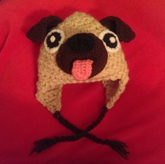 FREE PUG HAT PATTERN ******************************** The Crocheting Andreas are celebrating 600 Followers with this free pattern. Thank you so much!!! We appreciate every single one of you :-)...