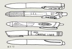 「ユニボール シグノ ノック式 0.7mm」か、「シグノ Signo 超極細 0.28mm ブラウンブラック」 内田彩仍さんのペン。