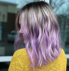 30 trendy lavender hair ideas to play around with page- 38 ~ mantulgan. Pastel Lavender Hair, Purple Hair, New Hair Colors, Brown Hair Colors, Short Straight Hair, Straight Hairstyles, Schwarzkopf Professional, Brown Hair With Highlights, Formulas