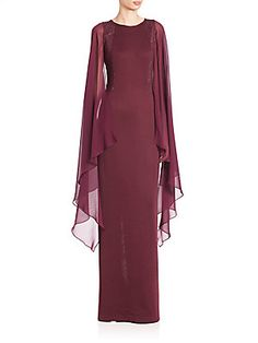 St. John Milano Knit Cape Gown