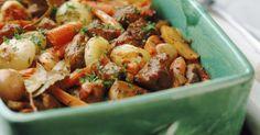 Recette de Légumes d'hiver rôtis au four. Facile et rapide à réaliser, goûteuse et diététique. Ingrédients, préparation et recettes associées.