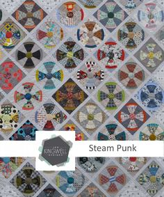 A classic block for the favorite man in your life. Steampunk can be hand or machine pieced. The finished quilt measures 71 inches by 71 inches.