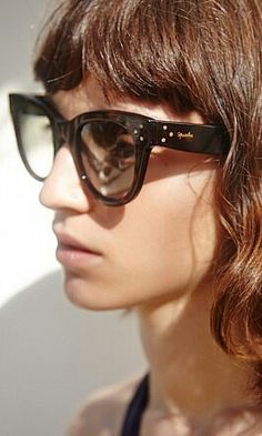 Dark tortoise shell cat eye sunglasses