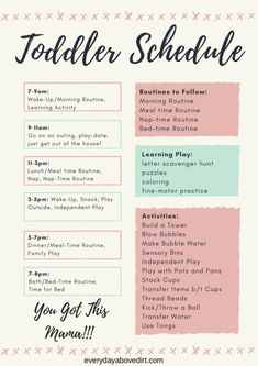 Make a toddler schedule today! - Make a toddler schedule today! Make a toddler schedule today! Toddler Learning Activities, Parenting Toddlers, Infant Activities, Nanny Activities, Activities For 4 Year Olds, Summer Activities For Toddlers, Preschool Activities At Home, Crafts For 2 Year Olds, Gentle Parenting