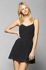 Lucca Couture Lace-Trim Chiffon Slip Dress $59.00