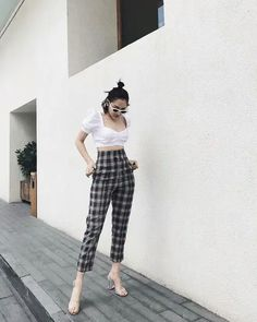 Korean Fashion Trends, Fall Fashion Trends, Autumn Fashion, Casual Summer Outfits, Trendy Outfits, Cool Outfits, Daily Fashion, Girl Fashion, Fashion Outfits