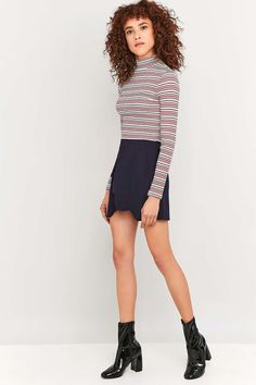 Urban Outfitters Scallop Wrap A-Line Skirt