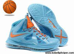 Buy Nike Lebron X (10) Blue Orange Style 541100 400 Shoes Shop
