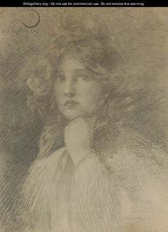 Portrait of a Girl - Edwin Howland Blashfield