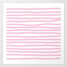 Pink Stripes Horizontal Art Print by lavieclaire Pink Stripes, Outdoor Blanket, Art Prints, Art Impressions, Pink Streaks