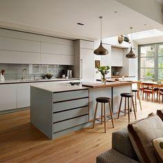 Cool colours kitchen | Colourful kitchen ideas | Kitchens | PHOTO GALLERY | Beautiful Kitchens | Housetohome.co.uk