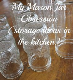 Mason jar storage.  So many ways to use these!  Organization, leftover storage, food ingredient storage.  Click through for lots of ideas!