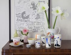 A photo visit in artist Lisa Grues home in Copenhagen - photo: Denis Sytmen Styling: Lisa Grue