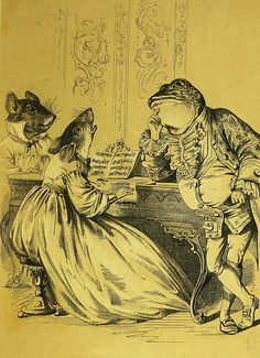 """""""Since you have caught cold, Mr Frog,"""" Mousey said, """"I'll sing you a song I have just made."""" 'The Frog Who Would A Wooing Go' Henry Louis Stephens Romantic Art, Folk Art, Animal Art, Art Drawings, Drawings, Illustration Art, Art, Frog Art, Lithograph"""