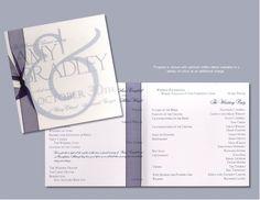 Translucent Elegance Wedding Program - $1.61 each when you purchase 100.(maybe)