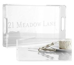 Rectangular Acrylic Tray | Need a creative thank-you idea for your gracious host? These seasonal picks will show your gratitude—and maybe even snag another invitation.