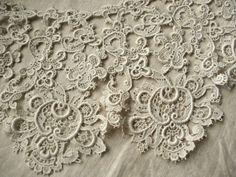 Antique Lace Gros Point de Venice Collar Lapel Lace Wedding Supplies Baroque…