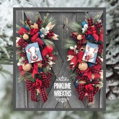 Farmhouse Christmas swags for front door double door Christmas Swags, Christmas Home, Christmas Decorations, Holiday Decor, Christmas Ideas, Double Door Wreaths, Double Front Doors, Easter Wreaths, Holiday Wreaths