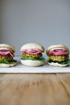 falafel sliders with spicy yogurt, mint, and sumac onions | my name is yeh | Bloglovin'