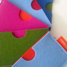Card case in pure wool felt business card holder credit by mlmxoxo