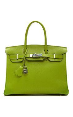 Vintage Hermes 30Cm Vert Anis Chevre Leather Birkin