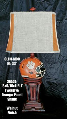 NCAA LAMP CLEMSON TIGERS 33 INCH
