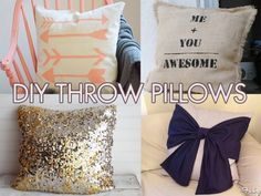 Thanks, I Made It Myself: 10 Diy Throw Pillows To Dress Up Your Couch