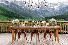 Rustic and Elegant Mountain Wedding Inspiration … … - Mountain Wedding Ideas Vail Mountain, Mountain Love, Autumn Wedding, Rustic Wedding, Boho Wedding, Vail Wedding, Copper Wedding, Colorado Rocky Mountains, Marriage Reception