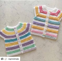 Baby Sweater Knitting Pattern, Baby Knitting Patterns, Knitting Stitches, Knitting Designs, Free Knitting, Crochet Baby, Knit Crochet, Knitting For Beginners, Baby Sweaters