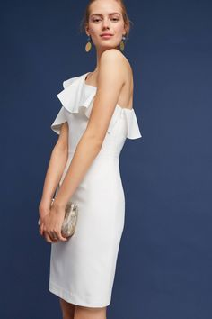 Slide View: 2: Evelyn One-Shoulder Dress