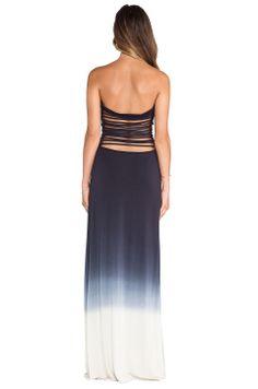 Young, Fabulous + Broke Tara Maxi Ombre Dress in Black