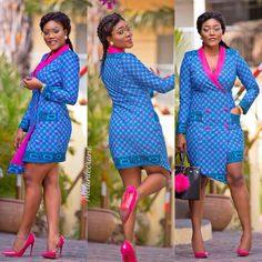 Suit dress by Melanie crane Kente Styles, African Fashion Ankara, African Dresses For Women, African Print Dresses, African Print Fashion, Africa Fashion, African Attire, Business Casual Outfits, African Fashion