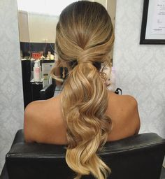 """I love ponytails! Tutorial coming soon #hairbygabrielle #ponytail #hairstyle #melbournehairstylist"""