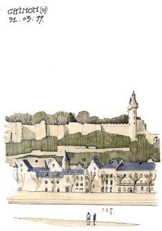 Francia, Chinon Postcards, Louvre, Building, Travel, Viajes, Buildings, Destinations, Traveling, Trips