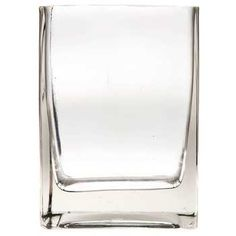 Clear Rectangle Glass Vase for cocktail tables