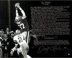 Dwight Clark Signed 1981 NFC Championship B/W 16X20 Story Photo