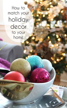 How to match holiday decor to your existing decor