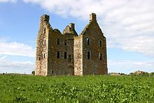 Knockhall Castle is an historic Scottish castle near to Newburgh, Aberdeenshire. It was built by Lord Sinclair of Newburgh in 1565. It was purchased by Clan Udny, who moved into the castle in 1634. The building was damaged in 1639 when taken by the Earl Marischal for the Covenanters, but was later returned to Udny hands.