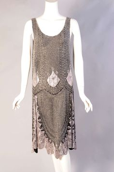 1920s French beaded Flapper Dress (view 2-without matching jacket)