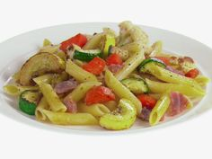 Penne with Roasted Vegetables and Prosciutto Recipe : Giada De Laurentiis : Food Network - FoodNetwork.com