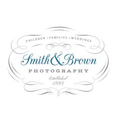 Photography Calligraphic  Logo  Photo Watermark by VintageLogos, $25.00