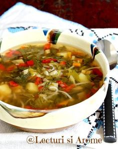 Romanian Food, Romanian Recipes, Love Food, Vegetarian Recipes, Recipies, Curry, Food And Drink, Yummy Food, Cooking