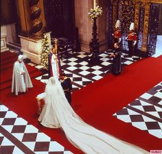 The wedding of Prince Charles and Lady Diana begins.